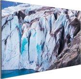 Detail Bear gletsjer Aluminium 120x80 cm - Foto print op Aluminium (metaal wanddecoratie)