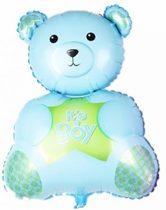 Blauwe Beer XL ballon - Kraamcadeau – Geboorte versiering – Geboorte ballonnen – Feest versiering – Baby Shower – Geboorte jongen