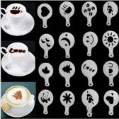Sjabloon decoratie voor alle kopje koffie soorten (Cappuccino-Latte-Koffie)