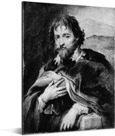 Sir Peter Paul Rubens - Schilderij van Anthony van Dyck Aluminium 120x160 cm - Foto print op Aluminium (metaal wanddecoratie) XXL / Groot formaat!