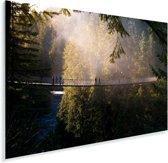 Afbeelding van een hangbrug in het Canadese Vancouver Plexiglas 90x60 cm - Foto print op Glas (Plexiglas wanddecoratie)