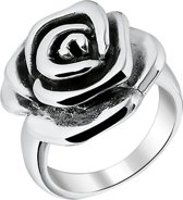 The Jewelry Collection Ring Oxi Roos - Zilver Geoxideerd