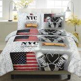 Dekbedovertrekset - NYC Lifestyle - 2 persoons 200x200/220cm + 2 slopen