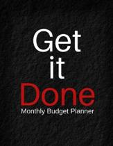 Get It Done Monthly Budget Planner