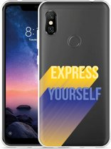 Xiaomi Redmi Note 6 Pro Hoesje Express Yourself