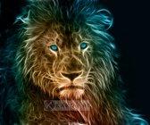 Schilderij - Leeuw in kleuren