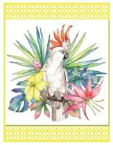 Tropical Parrot - Oversized 8.5x11, 150 Page Lined Blank Journal Notebook
