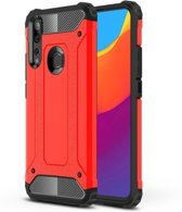Teleplus Huawei Y9 Prime 2019 Case Dual Layer Tank Cover Red + Nano Screen Protector hoesje