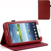 Samsung Galaxy Tab 3 7.0 P3200 Litchi Bookcase Rood