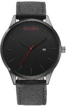 DooBo - heren horloge - zwart - 45 mm - I-deLuxe verpakking
