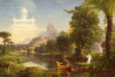 Thomas Cole : The Voyage of Life, Youth (1842) Canvas Print