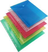 EXXO-HFP # 35400 - A4 Ringband Documententas - Top Open - Assorti kleuren - 1 Pak @ 10 stuks
