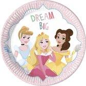 8 kartonnen Disney Princesses™ borden - Feestdecoratievoorwerp