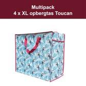 4 x Opbergtas - Big Shopper Toucan Multipack