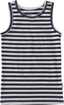 Baby jongens hemd - big navy blue stripes