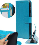 BestCases.nl Turquoise Portemonnee booktype hoesje Motorola Moto C Plus