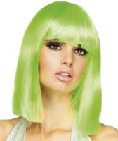 Bob Pruik Half Lang Lime Groen