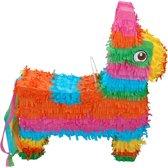 Gekleurde pinata ezel 40 cm - Pinata feest/verjaardag accessoires voor kinderen
