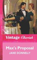 Max's Proposal (Mills & Boon Vintage Cherish)