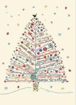 Season's Greetings Tree Large Boxed Holiday Cards