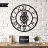 Metalen Wandklok Gibson XL - Groot Formaat - Metal Wall Clock Gibson XL - Hoagard Klok   Romeinse Style XL Wandklok   Roman Style XL Wall Clock