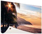 Zonsopgang Brazilie Tuinposter 200x100 cm - Tuindoek / Buitencanvas / Schilderijen voor buiten (tuin decoratie) XXL / Groot formaat!