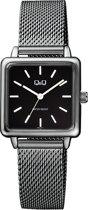 Q&Q vierkant dames horloge zwart QB51J412