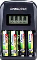 Basetech BTL-4 Batterijlader NiMH, NiCd AA (penlite), AAA (potlood), 9 V (blok)