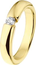 The Jewelry Collection Ring Diamant 0.15 Ct. - Geelgoud