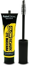 Glow in the dark mascara geel