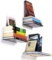 2 x Boekenplank Zwevend - Onzichtbare boekenplank - Boekensteun