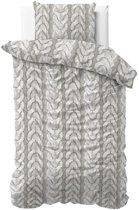 Zensation Flanel Knitted - Dekbedovertrekset - Lits-Jumeaux - 240x200/220 + 2 kussenslopen 60x70 - Grijs