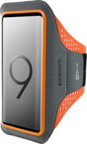 Mobiparts Comfort Fit Sport Armband Samsung Galaxy S9 Neon Orange