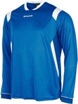 Stanno Arezzo  Sportshirt performance - Maat 164  - Unisex - blauw/wit