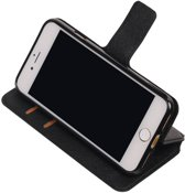 iPhone 7/8 Zwart | Cross Pattern TPU bookstyle / book case/ wallet case  | WN™