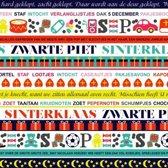 Cadeaupapier Sint - print 19 - 30cm - 200m - 80gr | Winkelrol / Toonbankrol / Geschenkpapier / Kadopapier / Inpakpapier