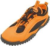 Playshoes surfschoenen uni neon oranje