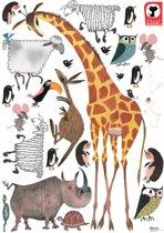 KEK Amsterdam Animals XL Muursticker Giraffe, 85x119 Cm