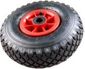 Steekwagenwiel 3.00 - 4 luchtband (kunststof velg) met naaldlager