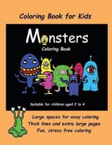 Coloring Book for Kids (Monsters Coloring Book)