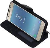 Samsung Galaxy J3 2017 Zwart | Cross Pattern TPU bookstyle / book case/ wallet case  | WN™