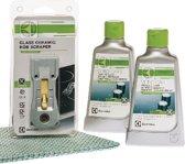 Electrolux kookplaat reinigingsset - 2 x kookplaatreiniger, kookplaatschraper en microvezeldoekje - E6HK2102 - universeel