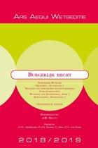 Boek cover Ars Aequi Wetseditie - Burgerlijk recht 2018/2019 van  (Paperback)