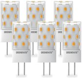 Groenovatie LED Lamp G4 Fitting - 5W - 49x18 mm - Dimbaar - 6-Pack - Warm Wit