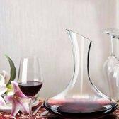 Alpina Glazen Wijn Decanteer Kan - Karaf 1,8 liter Met 6 Wijnglazen