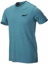 inov-8 Tri Blend Forged T-shirt Heren, blue/green Maat L