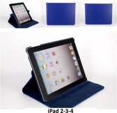 Book Case Tablet voor Apple iPad 2; Apple iPad 3; Apple iPad 4 - Blauw