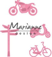 Marianne Design Collectable Village decoration set bycicle COL1436