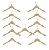 Set van 10 (+ 1 GRATIS!) kinder kledinghangers van 28 cm breed voor grotere kinderkleding