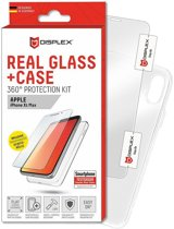 Displex 2D Real Glass + Case Apple iPhone XS Max 360° Protection Kit